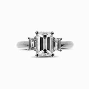 Emerald Cut & Baguette Single Stone 1.20ct FVS1 GIA